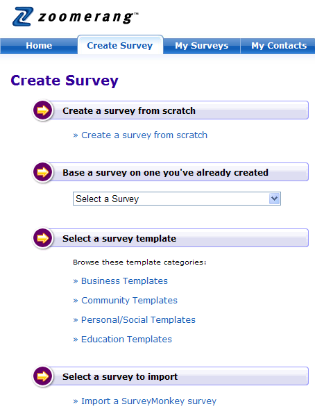 zoomerang create survey