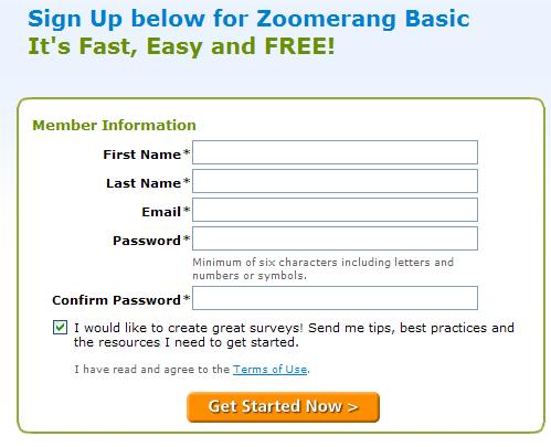 zoomerang signup